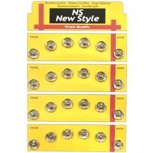 Набор кнопок пришивных серебряных металлических 10 мм