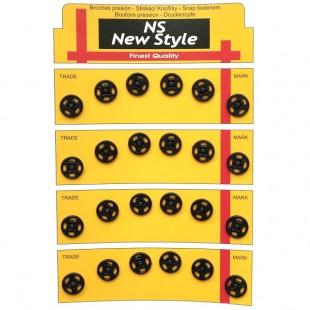 Набор кнопок пришивных черных 11 мм