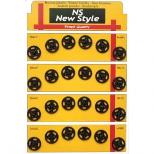 Набор кнопок пришивных черных 13 мм