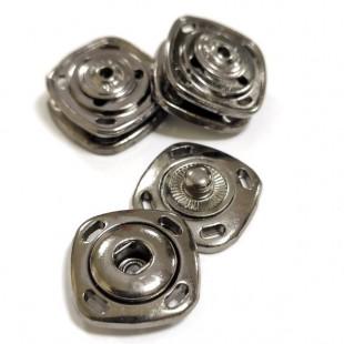 Набор кнопок квадратных черных металлических 15 мм
