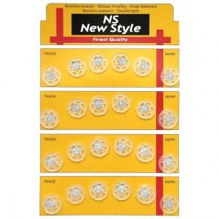 Набор кнопок пришивных прозрачных 15 мм