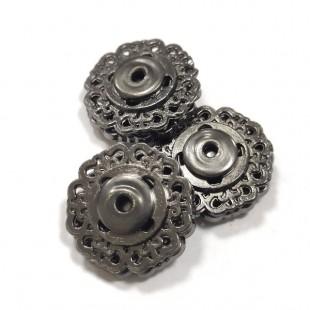 Набір кнопок ажурних чорних металевих 18 мм