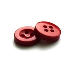 Пуговица 11 мм красная