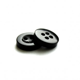 Гудзик 11 мм чорний