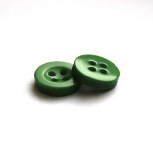 Гудзик 11 мм зелений