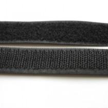 Застежка текстильная черная 20мм