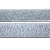 Застежка текстильная серая 20мм