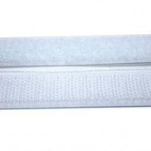 Застібка текстильна біла 20мм
