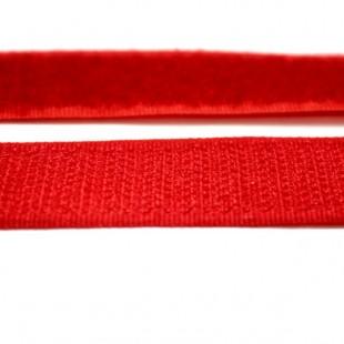 Застібка текстильна червона 20мм