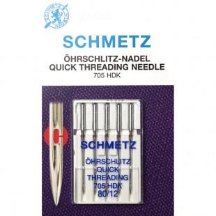 Набор игл Schmetz 705 HDK легковдеваемые №80