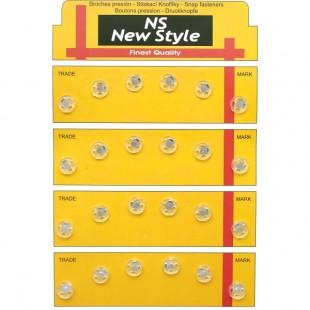Набор кнопок пришивных прозрачных 8 мм