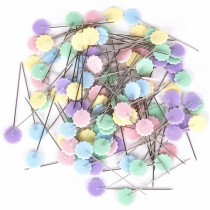 Булавки с пластиковым цветком