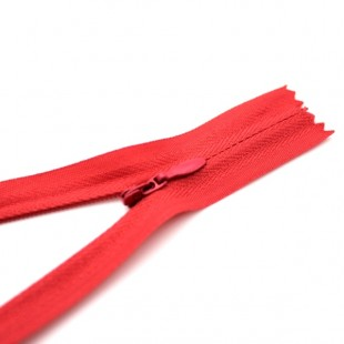 Молния потайная неразъемная 18 см светло-красная №011