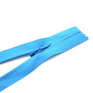 Молния потайная неразъемная 18 см голубая №057
