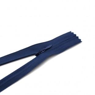 Молния потайная неразъемная 18 см синяя №070