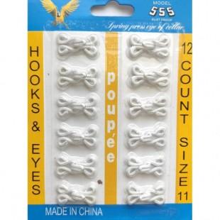 Крючок в ткани белый №11