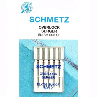 Набор игл Schmetz Overlok SUK №80