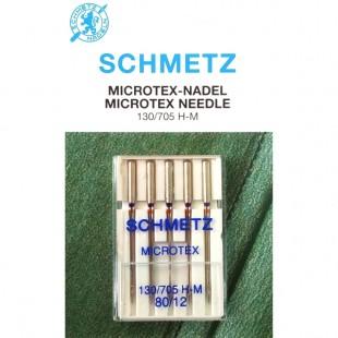 Набір голок Schmetz Microtex №80