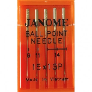 Набор игл Janome Ball Point Needle Mix
