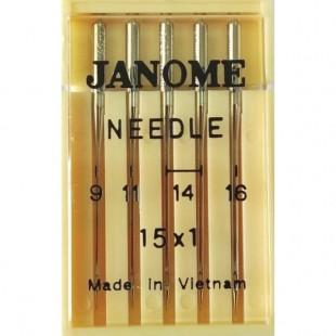 Набор игл Janome 15x1 mix (универсальные)
