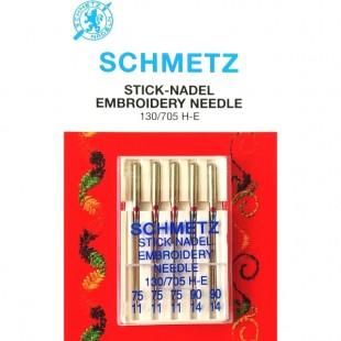 Набор игл Schmetz Embroidery №75-90