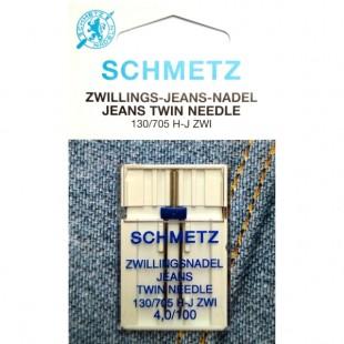 Игла двойная Schmetz Jeans №100/4,0