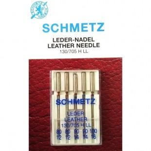 Набір голок Schmetz Leather №80-100