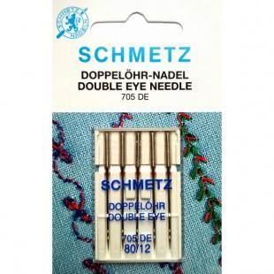 Набор игл Schmetz Double Eye №80