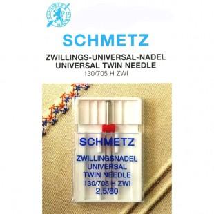 Голка подвійна Schmetz Universal №80/2,5