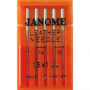 Набор игл Janome 15x1 mix Leather