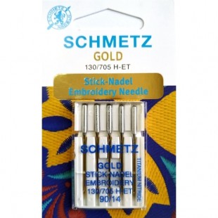 Набор игл Schmetz Gold Embroidery №90