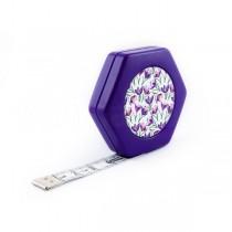 Сантиметр автоматический двусторонний пурпурный с магнитом
