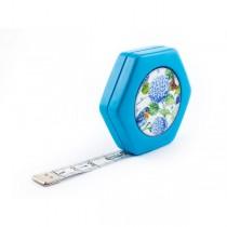 Сантиметр автоматичний двосторонній синій з магнітом