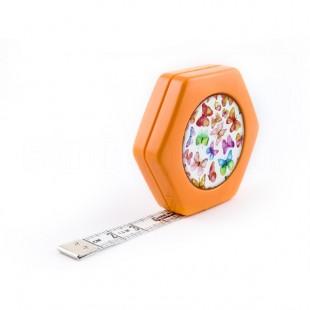 Сантиметр автоматичний двосторонній помаранчевий з магнітом
