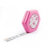 Сантиметр автоматичний двосторонній рожевий з магнітом