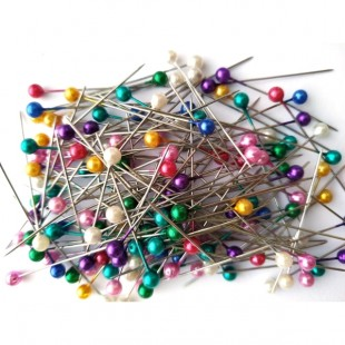 Булавки с пластиковым цветным шариком